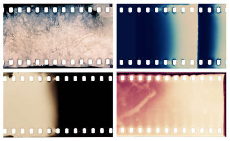 grained: Blank grained film strip textures Stock Photo