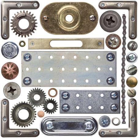 rivet: Screw heads, frames and other metal details