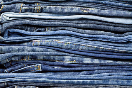 Jeans trousers stack closeup Stock Photo - 12455443