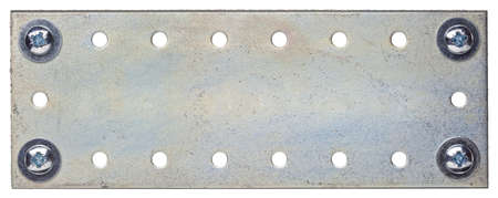 Metal plate texture with screws  photo