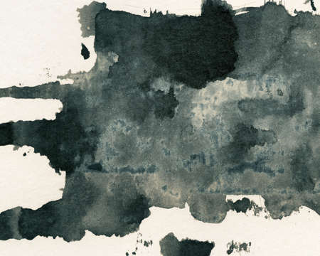 painted the cover illustration: Abstract painted grunge background, ink texture  Stock Photo