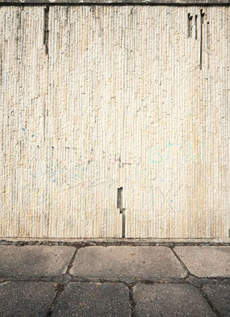 Aged street wall background, texture photo