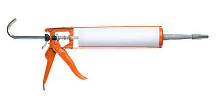 resistol: De silicona pistola de goma, aislados en blanco