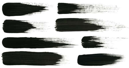 Abstract painted ink strokes set   Stock Photo - 13012972