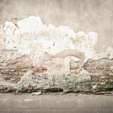 Aged street wall background, texture Stock Photo - 13013054