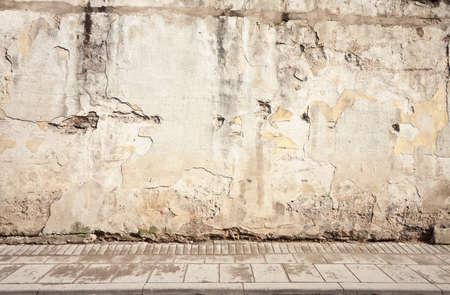 paredes exteriores: Edad calle la pared de fondo, la textura Foto de archivo