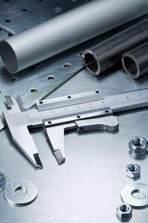 Metal work tools, steel parts  photo