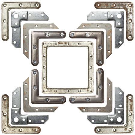 Metal corners frames, borders. Isolated. Stock Photo - 13013072