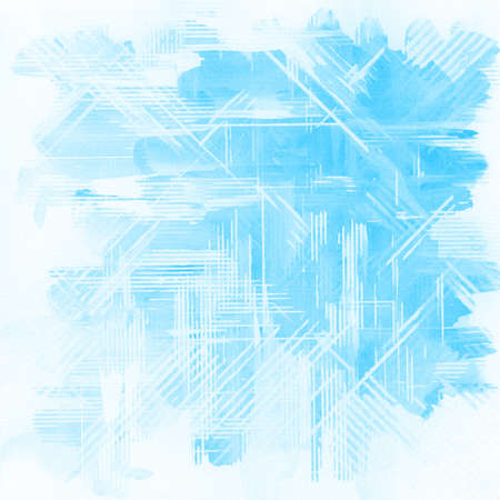 Abstract blue watercolor background.  Banco de Imagens