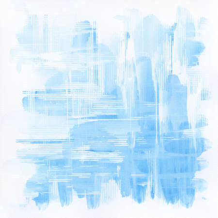 Abstract blue watercolor background.  Stock Photo