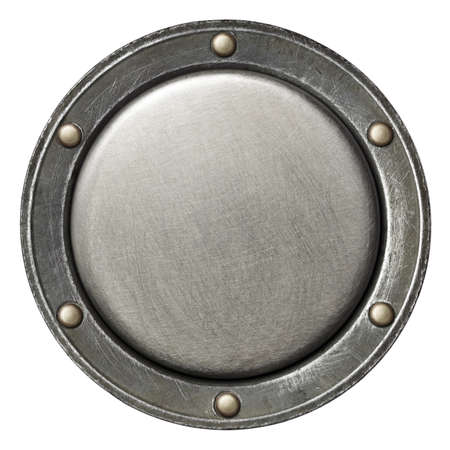 Designed round metal background, texture
