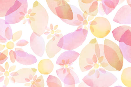 Designed watercolor flower background, texture photo