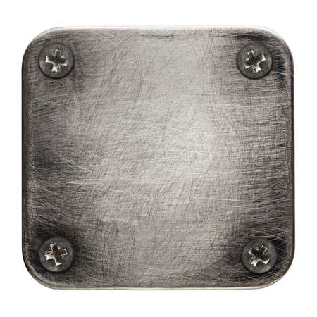 screw heads: Square shape metal plate texture with screws