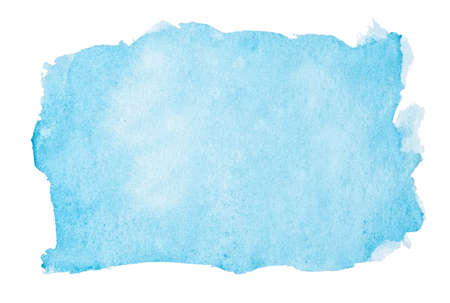 watercolor background: Abstract blue watercolor background