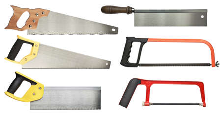 Hand saw set for wood and metal cutting