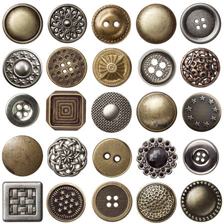 buttons sew: Vintage metal sewing buttons collection