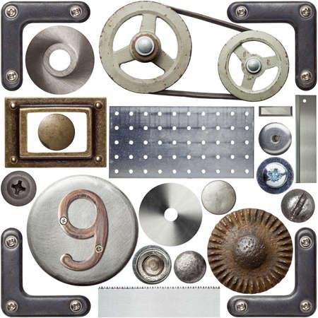 tornillos: Cabezas de los tornillos, marcos y otros detalles de metal