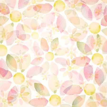 aqua flowers: Designed watercolor flower background, texture