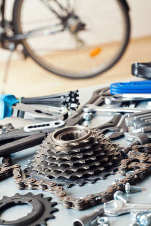 spare parts: Bike repairing. Spare parts and tools.