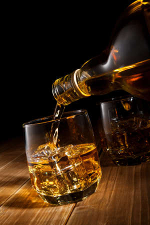 Whiskey on the rocks  photo