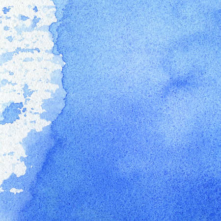 watercolor blue: Abstract watercolor hand painted background, texture.  Stock Photo