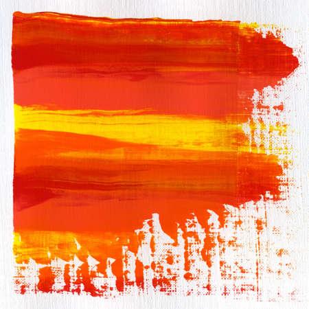 Acrylic hand painted brush strokes. Stock Photo - 14725040