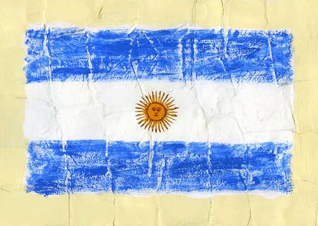 bandera argentina: Pintado a mano la bandera de acrílico de la Argentina