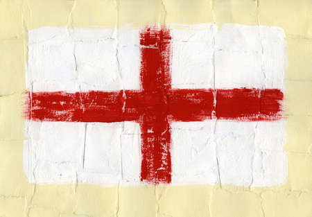 Hand painted acrylic flag of England Stock Photo - 14725041