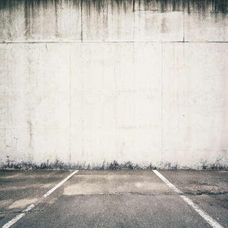 wand graffiti: Beton Parkplatz Wand