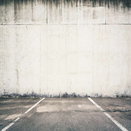 parking garage: Concrete parking lot wall Stock Photo