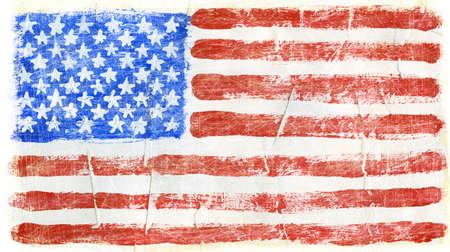 america flag: Hand painted acrylic United States of America flag