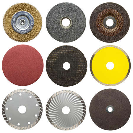 Abrasive disks for metal and stone grinding, cutting. photo