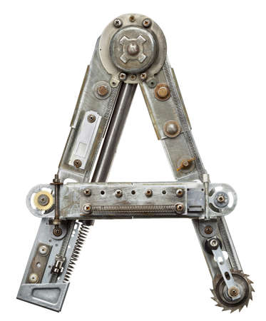 Industrial metal alphabet letter A