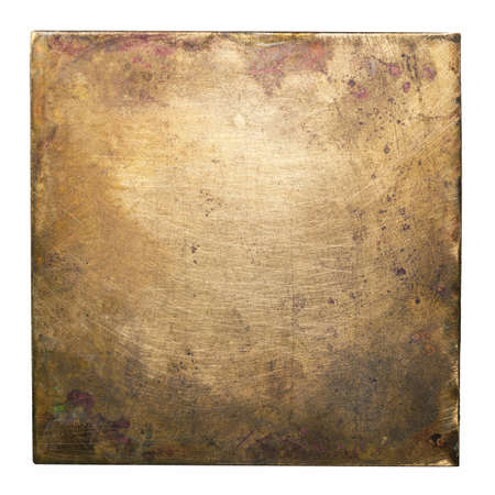 Koperen plaat textuur, oude metalen achtergrond Stockfoto