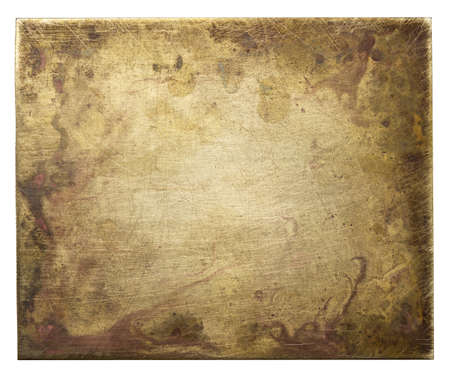 Brass plate texture, old metal background Stock Photo - 15110049