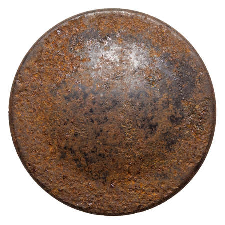 rusty: Rusty round metal plate texture