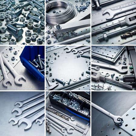 auto repair: Metal workshop tools, supplies set