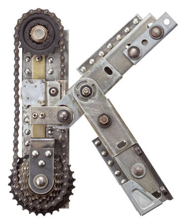industriale: Industriale metallo alfabeto lettera K
