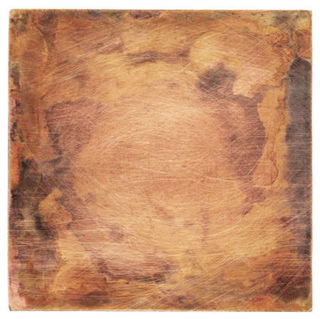 Copper plate texture, old metal background. Stock Photo - 15281248