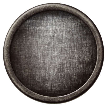 Vintage background. Aged metal texture in a round frame. photo