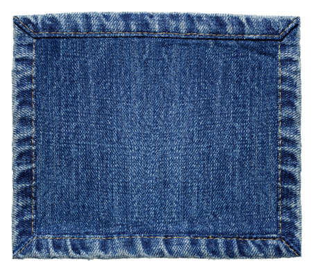 cloth back: Blue denim jeans texture, isolated background  Stock Photo