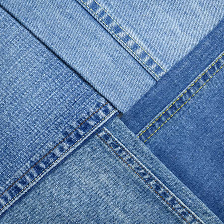 worn jeans: Blue denim jeans texture, background Stock Photo