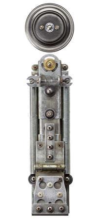 metallic letters: Industrial metal alphabet letter i