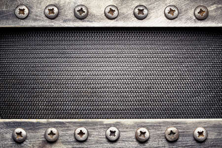 steel head: Metal grid texture, background