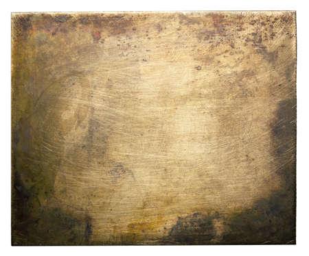 oxidado: Textura de lat�n placa, fondo de metal viejo Foto de archivo