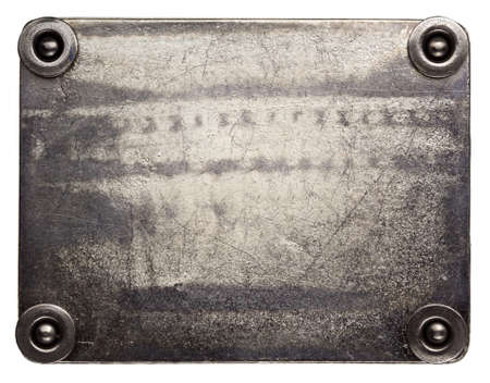 Metal Plate Texture With Screws. Stock Photo, Picture And Royalty ...