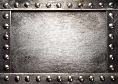 Textura da placa de metal com rebites