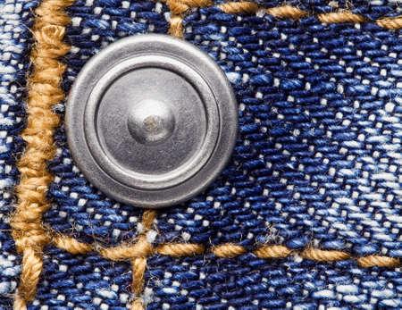 cotton  jeans: Rivet on blue denim jeans.