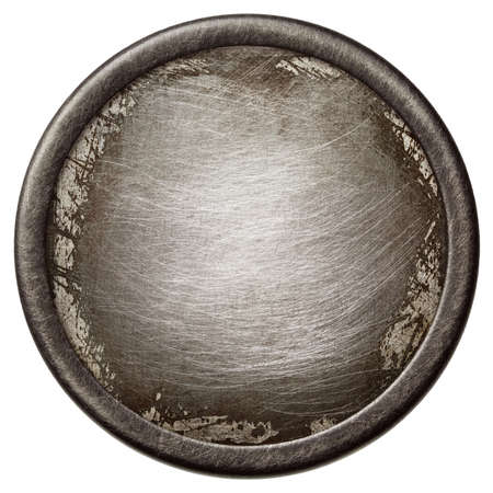 Vintage background. Aged metal texture in a round frame. Stock Photo - 15703306