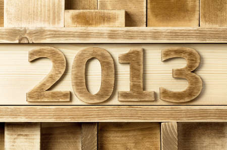 2013 year made of wood photo